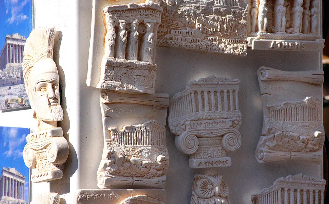 Athen - Die unterbewertete Metropole. Souveniers aus Athen waren bestimmt schon in der Antike gefragte Waren.