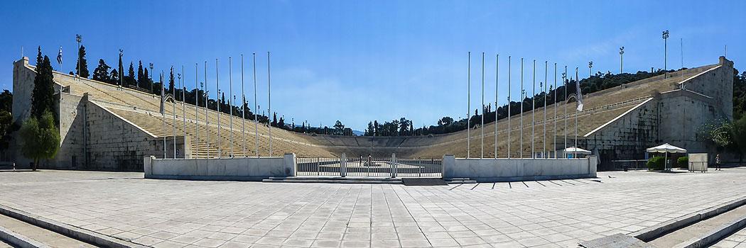 Das Panathinaiko-Stadion ist jener geschichtsträchtige Ort, an dem die ersten Olympischen Spiele der Neuzeit stattgefunden haben.