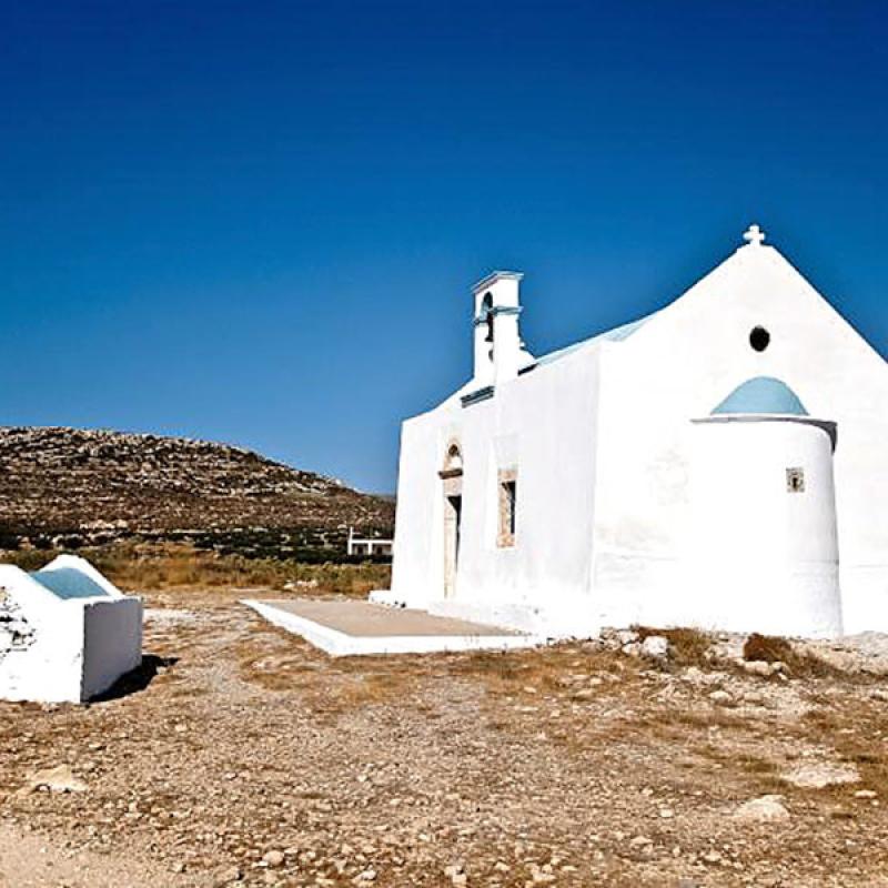 Die Kirche Agios Nikolaos liegt in Xerokampos, eine kleine vom Massentourismus verschonte Bucht, direkt an der Südostküste Kretas. (Foto: PaPisc, flickr)
