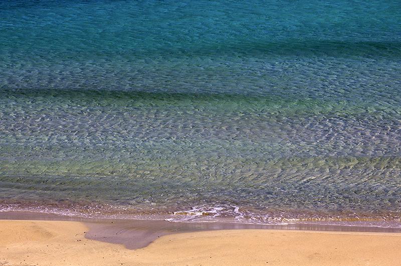 Wunderbare Farbenpracht am Meer.