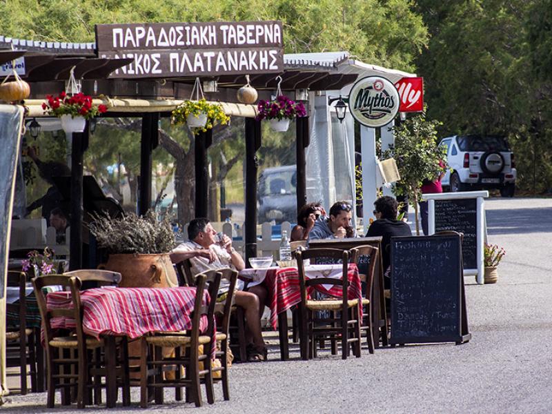 """Die Küche der """"Cretan Traditional Tavern"""" hat ihre ausgezeichnete Qualität beibehalten."""