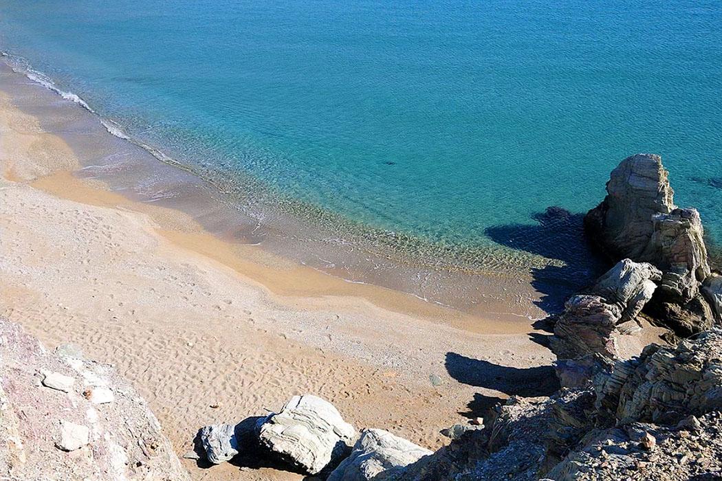 Paralia Erimoupolis, Itanos, Lasithi, Crete - Paralia Erimoupolis ist der einzige reine Sandstrand im Areal von Itanos.