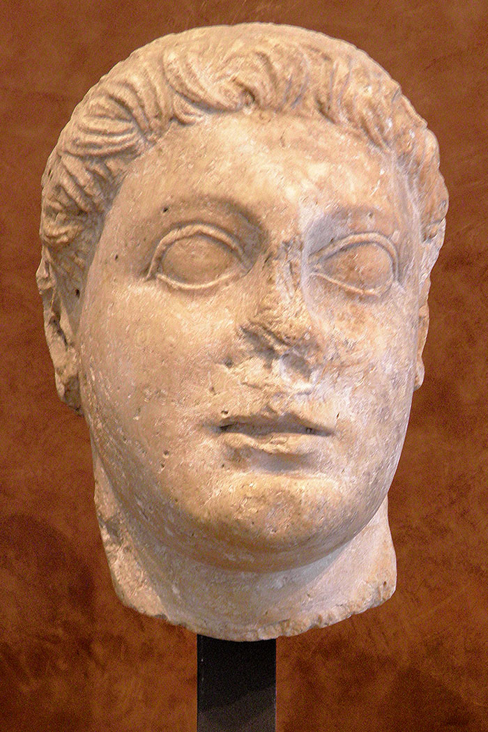 "Ptolemy II Philadelphus (Greek: Πτολεμαῖος Φιλάδελφος, Ptolemaîos Philádelphos"" 309 BCE – 246 BCE) was the king of Ptolemaic Egypt from 283 BCE to 246 BCE. He was the son of the founder of the Ptolemaic kingdom Ptolemy I Soter and Berenice, and was educated by Philitas of Cos. He had two half-brothers, Ptolemy Keraunos and Meleager, both of whom became kings of Macedonia (in 281 BCE and 279 BCE respectively). Both died in the Gallic invasion of 280–279 BCE (see Brennus). Ptolemy II erected a commemorative stele, the Great Mendes Stela. Ptolemies III through V also erected steles.Carole Raddato"