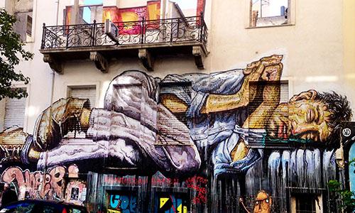 Steet Art in Exarchia in Athen: Der Stadtteil ist das Barometer für die Krise in Griechenland.