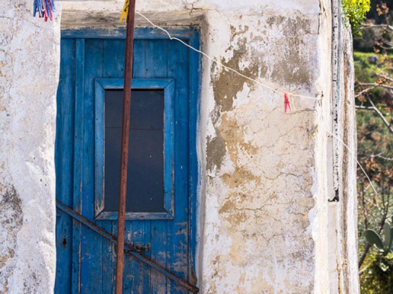 Die blaue Tür von Kato Drys.
