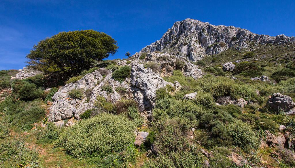 Die wunderschöne Landschaft des Priniasgipfels sieht seit minoischer Zeit unverändert aus.