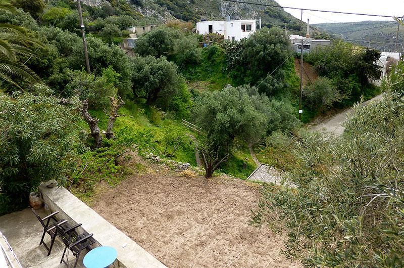 Blick von unserer Dachterrasse hinüber zum Haus von Ansoula und Michalis.