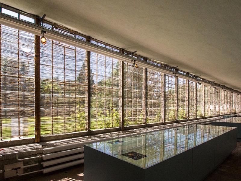 Im Geranienhaus befindet sich die interessante Dauerausstellung über den Gartenarchitekten Sckell und der Weiterentwicklung des Nymphenburger Schlossparks.