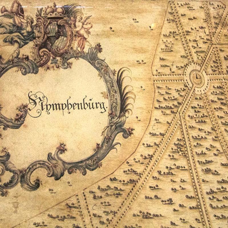Detail der Karte von 1755.