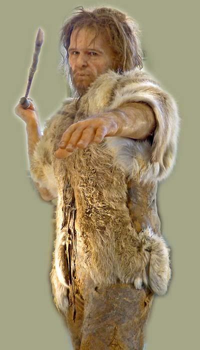 Homo_sapiens_Cro-Magnon, Naturhistorisches Museum, Wien, Die Rekonstruktion Naturhistorisches Museum Wien zeigt einen Cro-Magnon-Menschen (Homo sapiens) bei der Jagd. Foto: Wikimedia, Wolfgang Sauber