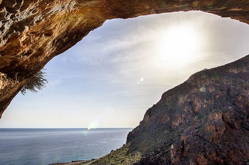 Panoramafoto aus dem Höhleninneren.
