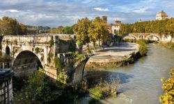 reise-zikaden.de, Monika Hoffmann, Italy, Rome, Tiber Island, Isola Tiberina, Ponte Fabricio, Ponte Rotto, Ponte Emilio.