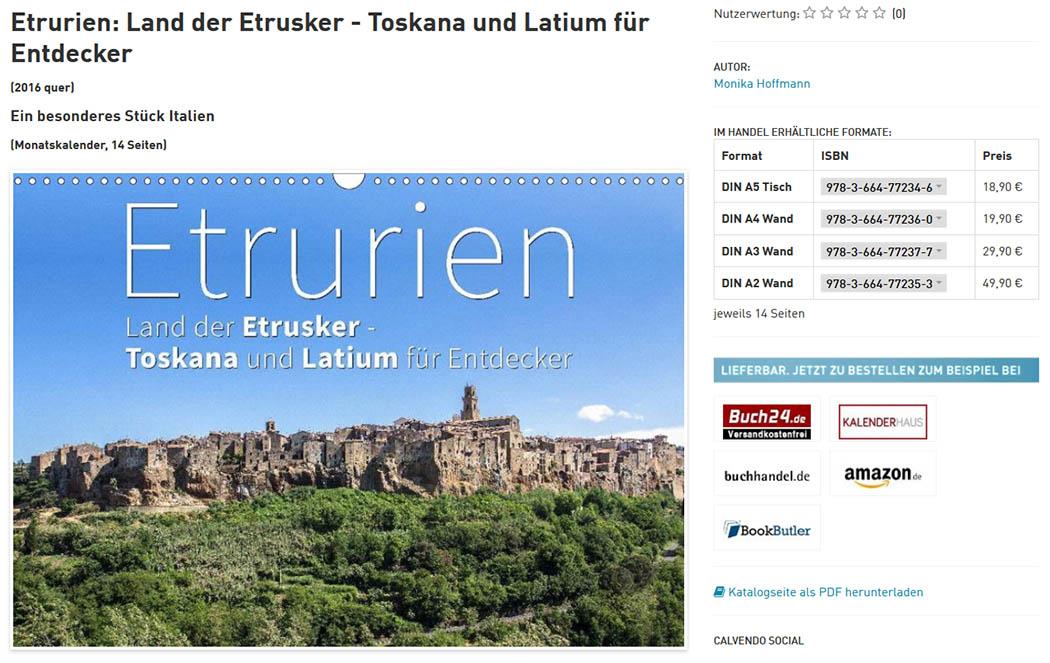 Etrurien: Land der Etrusker Die Website von Calvendo mit unserem Fotokalender über die Etrusker: Etrurien: Land der Etrusker – Toskana und Latium für Entdecker