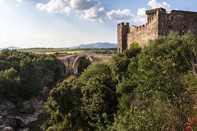 Ponte dell'Abbadia Castello dell'Abbadia vulci latium italien