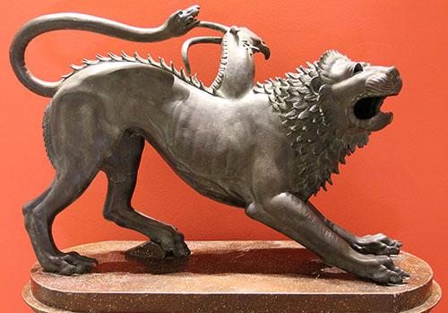 Chimäre von Arezzo Archäologisches Nationalmuseum Florenz