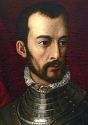 Francesco de' Medici, * 25. März 1541 in Florenz, † 19. Oktober 1587. Portrait von Alessandro Allori aus dem Jahr 1560 heute im Museum Museum Mayer van den Bergh, Belgien. Foto: Wikipedia