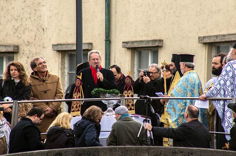 Der ehemalige Oberbürgermeister Christian Ude beim griechischen Jahresauftakt in München.