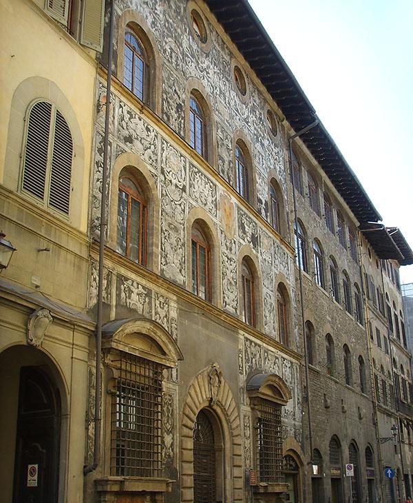 Palazzo di Bianca Cappello in der Via Maggio 26 im Stadtteil Oltrarno in Florenz. Foto: Sailko, Wikipedia.