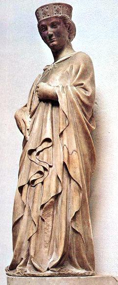 Die Heilige Reparata von Andrea Pisano, Marmorstatue, im Museo dell'Opera del Duomo. Foto: www.heiligenlexikon.de