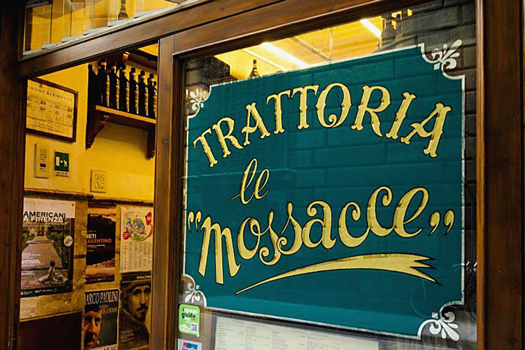 Die Trattoria le Mossacce in Florenz serviert solide florentinische Kpche zu günstigen Preisen.