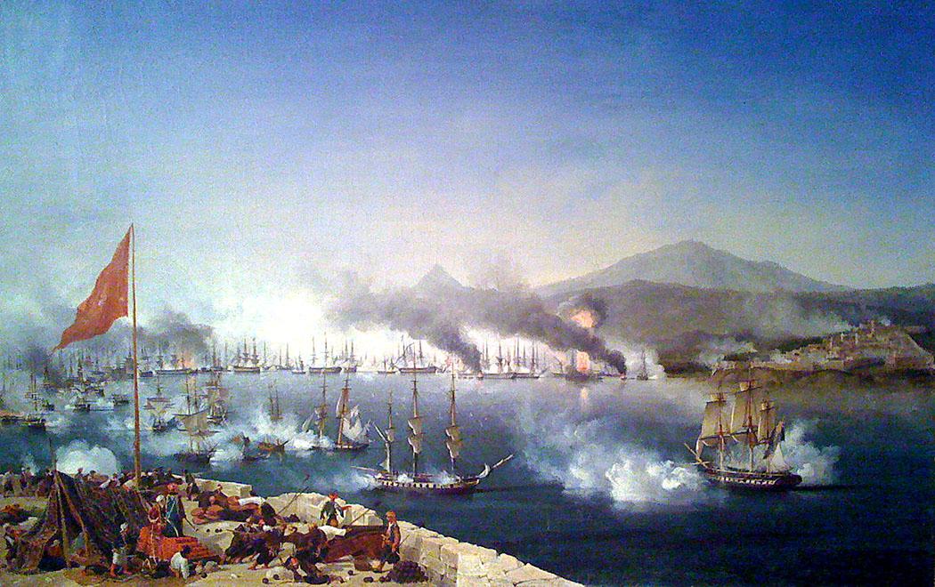 Die Schlacht von Navarino fand am 20. Oktober 1827 statt und war die Entscheidung, mit dem Griechenland seine Unabhängigkeit vom Osmanischen Reich erlangte. Foto: Moumou82, Wikipedia