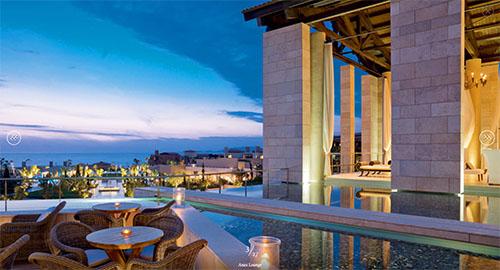 Die Anax Lounge im Hotel The Romanos, Costa Navarino. Foto: www.costanavarino.com