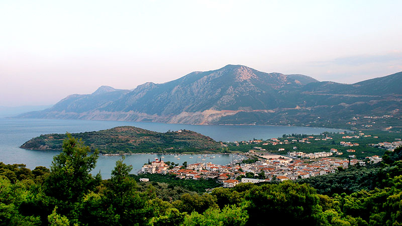 Peloponnes-Tagebuch Unser Standort in der Argolis: Palea Epidavros am Saronischen Golf.