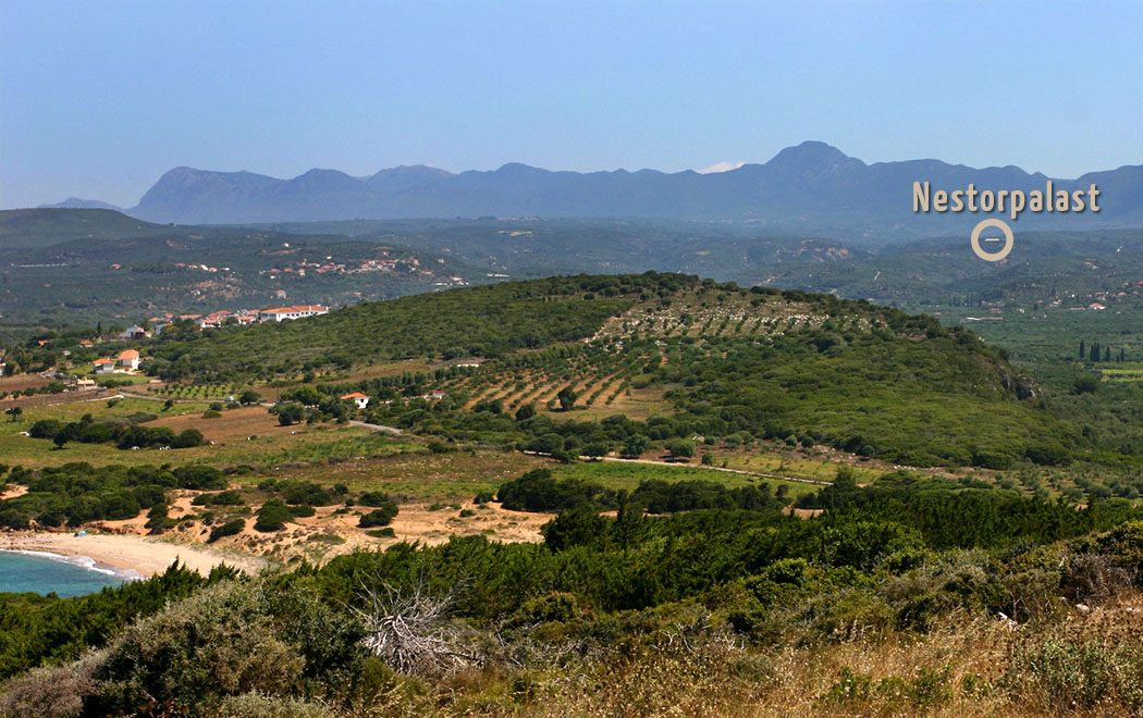 Griechenland: Pylos - Zwei Fürstengräber bei Nestor-Palast entdeckt pylos englianos nestorpalace voidokilia messenia peloponnes greece title