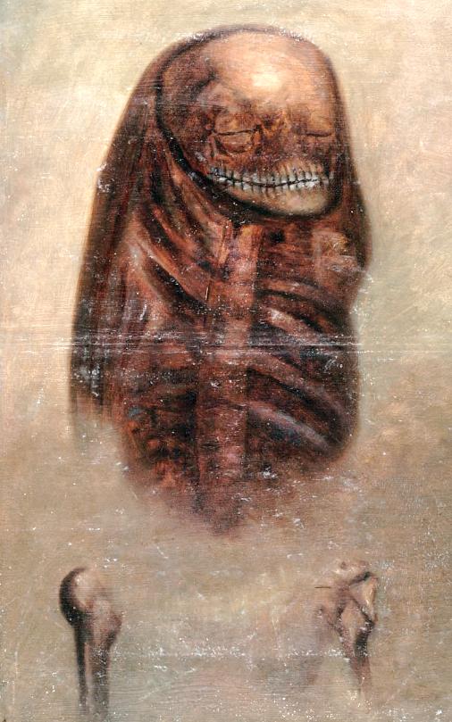mummy-mycenae-schliemann. Ölgemälde des Mumienfundes den Heinrich Schliemann im Gräberrund A, Schachtgrab V entdeckte. Das Original befindet sich in der National Library of Scotland.