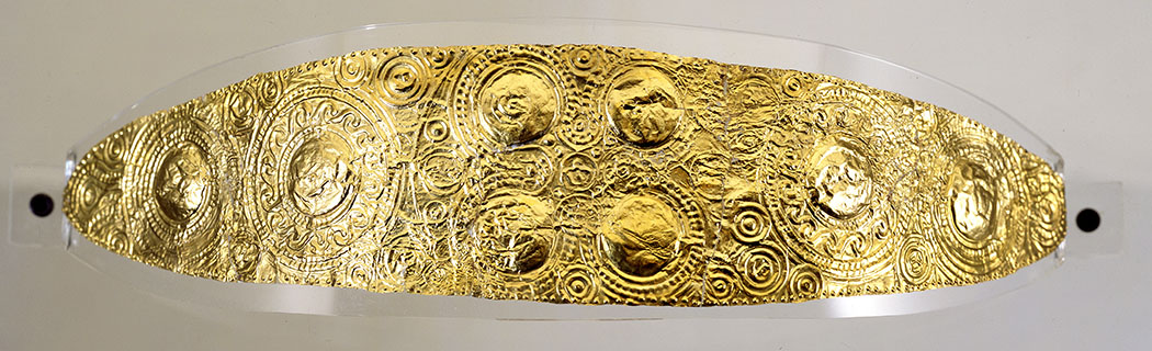 Golddiadem, Inv.-Nr. 92/9, Mykenisch, um 1500 v. Chr., Badisches Landesmuseum Karlsruhe
