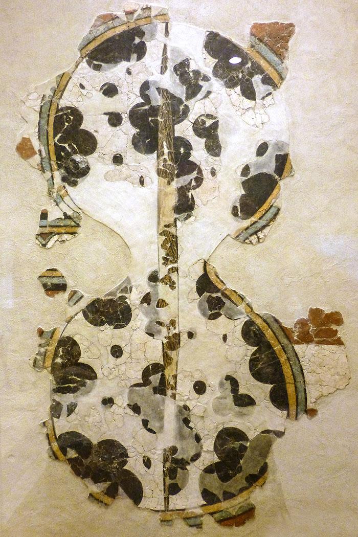 Dieses Fresko zeigt ein achtförmiges Schild, 1250 bis 1180 v. Chr.