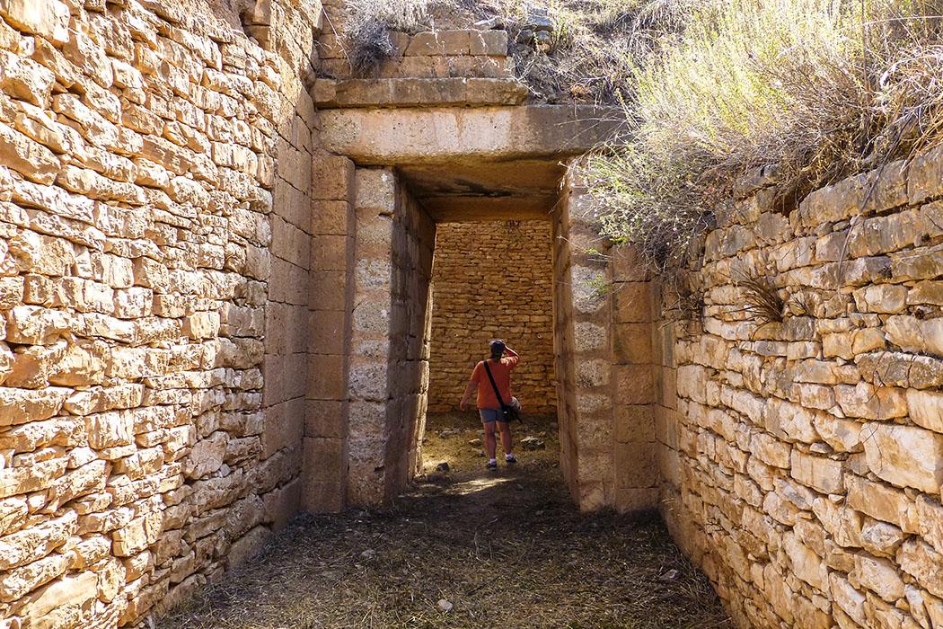 Mycenae panagia tholos panagitsa hill argolis peloponnes greece