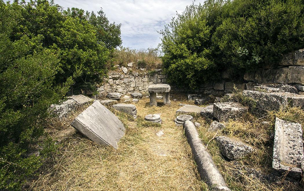 epidauros katagogeion christian basilica asklepios argolis peloponnese greece Die Apsis der frühchristlichen Basilika im Gebiet des Asklepiosheiligtums.