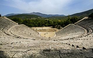Peloponnes:  Epidauros - Antiker Kurort und Heiligtum des Asklepios