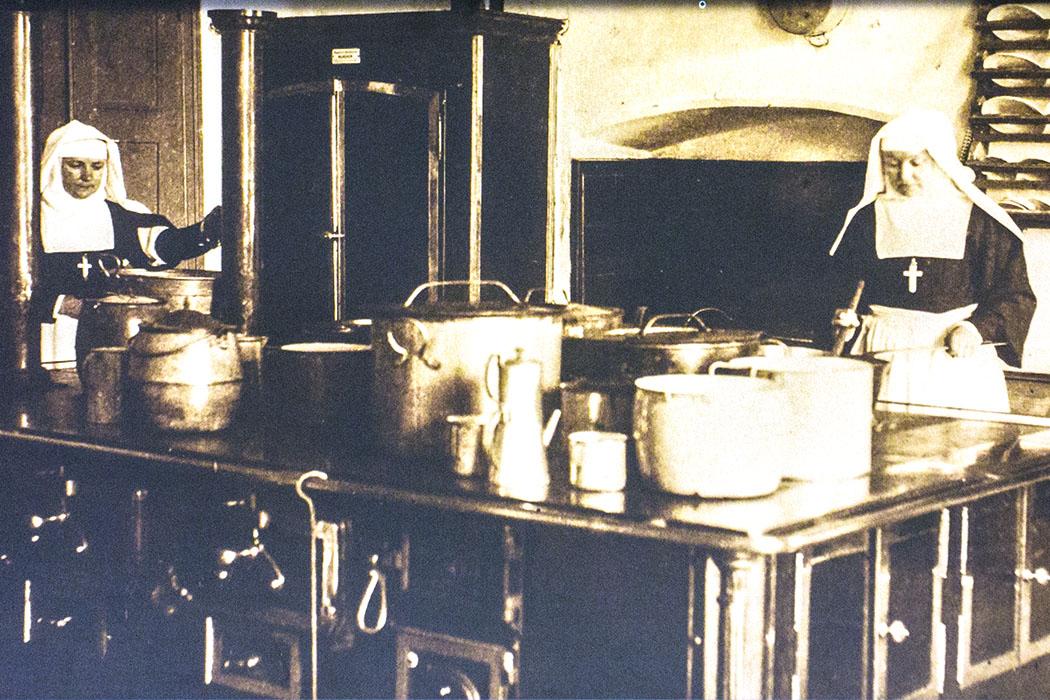 Die Klosterküche von Beuerberg im 19. Jahrhundert.