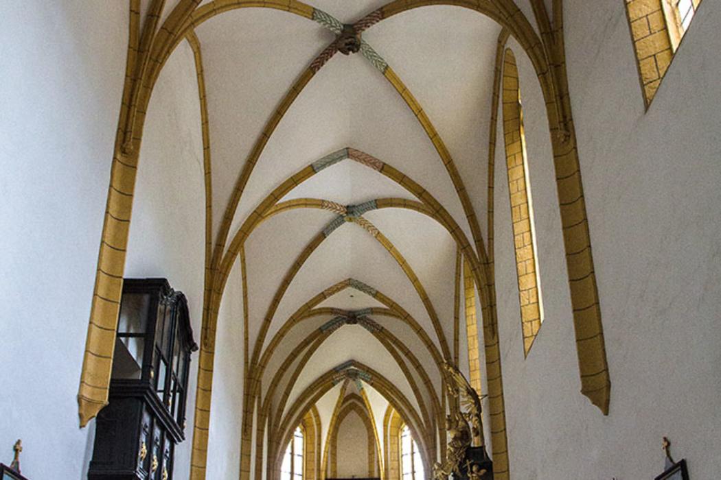 Die gotische Kirche der Kartause Aggsbach, sie hat eine hervorragende Akustik, die heute oft für Konzerte genutzt wird.