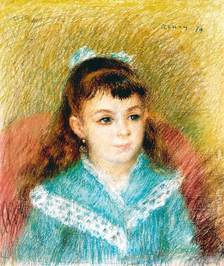 wien albertina Pierre Auguste Renoir - Mädchenbildnis (Elisabeth_Maître) 1897