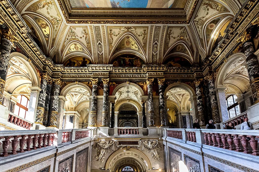 wien kunsthistoisches museum maria theresien platz innenraum oesterreich vienna austria Das Kunsthistorische Museum in Wien ist ein Eldorado für alle Kunstfreunde. Im seinem Inneren findet sich eine der kostbarsten Ausstattungen europäischer Museums-Architektur.