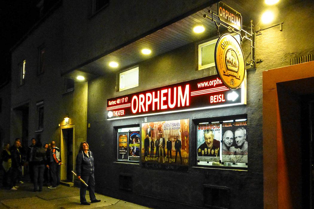 wien orpheum kabarett buehne 22 bezirk oesterreich vienna austria Das Orpheum in Wien ist heute eine Kabarett- und Kleinkunstbühne im 22. Wiener Gemeindebezirk Donaustadt, urprünglich war ein Kino aus den 1950er-Jahren.