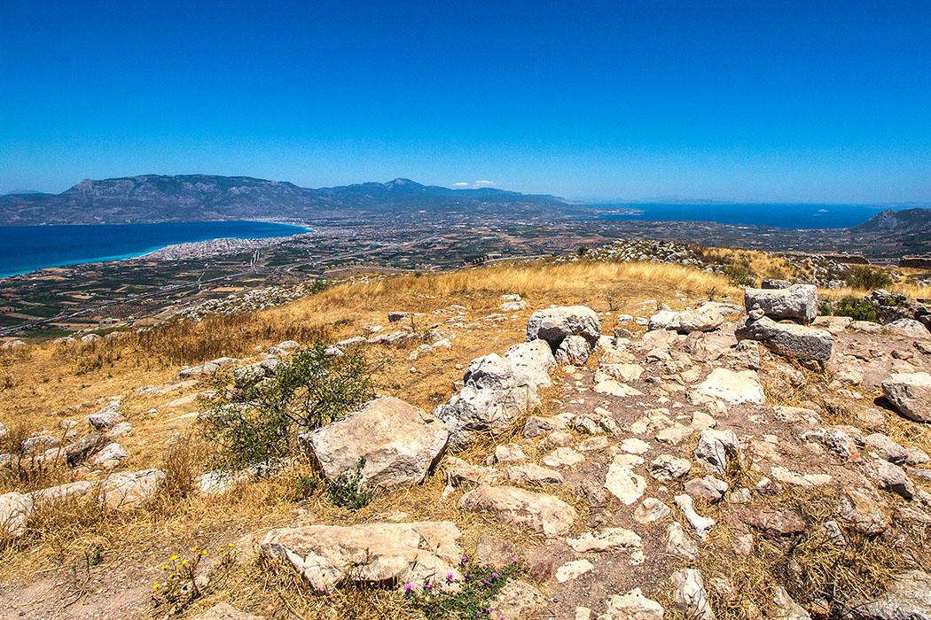 korinth akrokorinth aphrodite tempel peloponnes griechenland