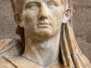 Statue des römischen Kaisers Augustus. Datierung: 1. Jhd. n. Chr.