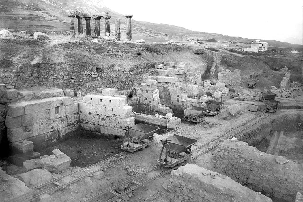 korinth nordmarkt ausgrabungen 1929 Die nördliche Agora von Korinth wurde ab 1929 von Archäologen der American School of Classical Studies at Athens (ASCSA) freigelegt und erforscht. Foto: corinth.ascsa.net
