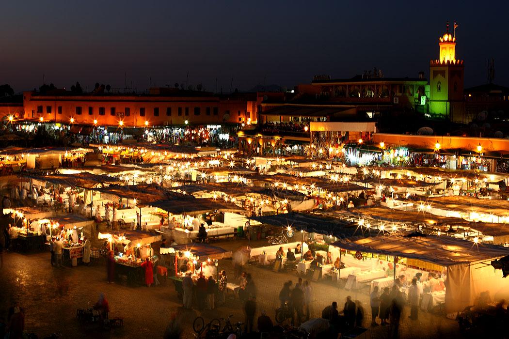 Reisetrends 2017: Die 10 beliebtesten Reiseziele für den Sommer Djemaa el Fna, marokko, marrakesch, flickr, Mark Rowland