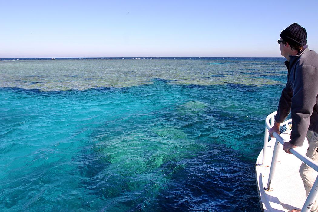 Reisetrends 2017: Die 10 beliebtesten Reiseziele für den Sommer egypt, safaga, panorama reef Ägypten: Der Traum jedes Schnorchlers oder Tauchers geht bei einer Bootstour zu den Außenriffen vor der Küste des Roten Meers. Das Foto zeigt Hans nach unserem Tauchang am Panorama Reef vor Safaga, mit weitläufigen Korallengärten. Das Riff reicht bis in eine Tiefe von mehr als zweihundert Metern.