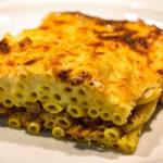 pastitsio - hackfleisch makkaroni auflauf - griechenland - titel