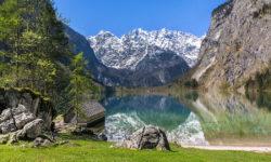 Deutschland, Bayern, Berchtesgadener Land, Oberau, Koenigssee, Obersee, Fischunkelalm, Watzmann, Nationalpark 01