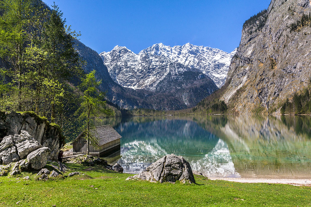 Oberbayern: Königssee - Von Salet zur Fischunkelalm am Obersee - Deutschland, Bayern, Berchtesgadener Land, Oberau, Koenigssee, Obersee, Fischunkelalm, Watzmann, Nationalpark 01