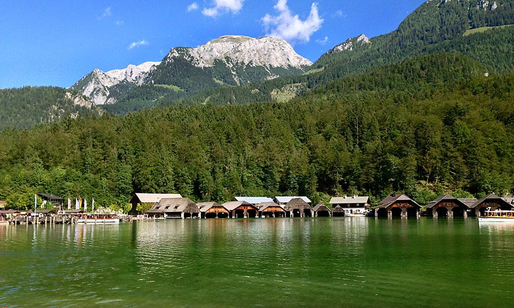 Oberbayern: Königssee - Von Salet zur Fischunkelalm am Obersee - deutschland_oberbayern_koenigssee_echostueberl_aussicht_ol