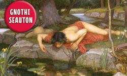 Echo and Narcissus, John William Waterhouse (1849–1917), Öl auf Leinwand, 1903, Walker Art Gallery London
