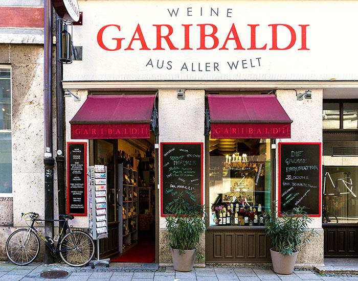reise-zikaden.de, Monika Hoffmann, Garibaldi Marienplatz, Burgstraße 2, 80331 München - Die Garibaldi Vinothek beim Marienplatz in der Burgstraße 2.